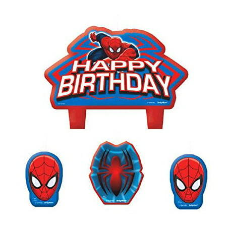 Spider Man Birthday Party Cake Candle Set 1 3