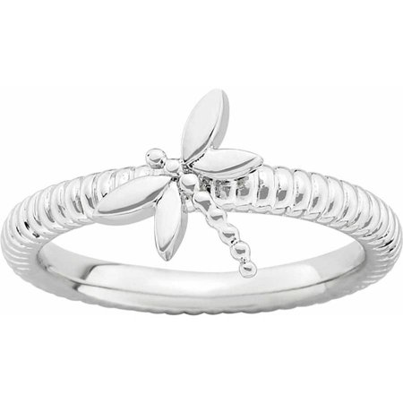 Sterling Silver Dragonfly Ring (Sterling Silver Dragonfly Ring)