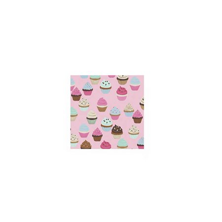 Pack of 20 Printed Cupcake Cocktail Size Paper Napkin Pink 5