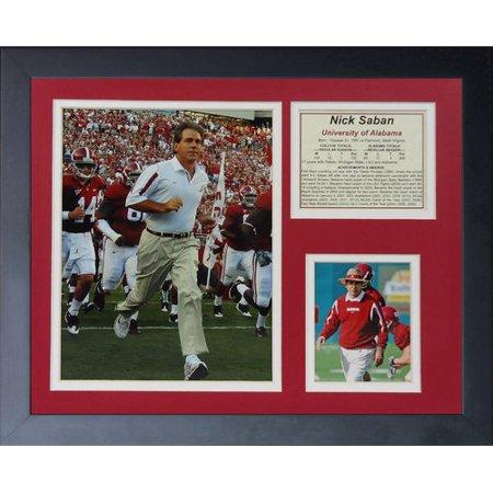 Legends Never Die Nick Saban Framed (Nick Price Memorabilia)