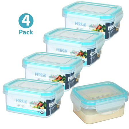 Leak Proof Containers - Persik Leak Proof Lunch Box Containers - Bento Meal Prep Containers 5 oz. (150 ml) Snack/Souce Food storage Container - Pack of 4