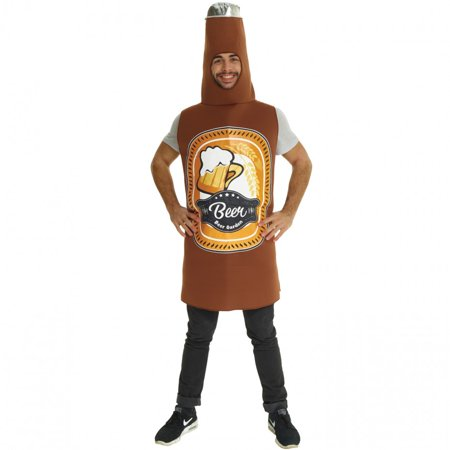 Bottle Of Beer Costume (Morphsuits Adult Beer Bottle Costume Adult Costume, Brown,)