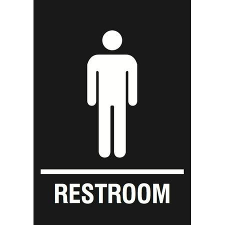 men restroom black sign public bathroom signs walmart com