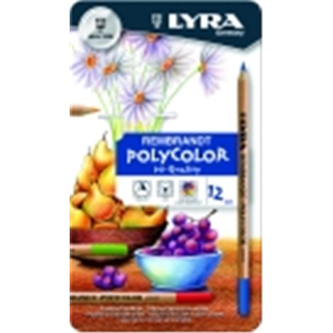 Lyra Rembrandt Non-Toxic Pre-Sharpened Polycolor Colored Pencil, Pack 12