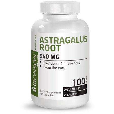 Bronson Astragalus Root 470 mg, 100 Capsules