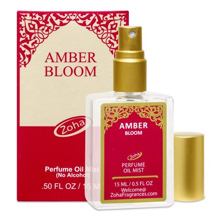 Amber Bloom Perfume Oil Mist (No Alcohol) Amber Oil Fragrance - Essential Oils and Perfumes for Women and Men by Zoha Fragrances, 15 ml / 0.50 fl Oz 15ml/0.5fl Oz