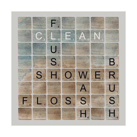 Bathroom Letters II Print Wall Art By Longfellow