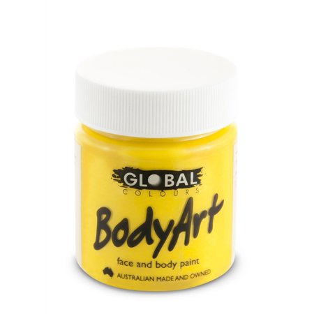 Global Body Art Face Paint - Liquid Yellow (45 ml/1.5 oz) (Body Paint Yellow)