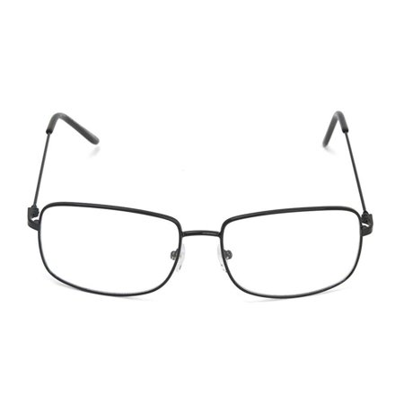 The One Who Knocks Clear Rectangle Aviator Lens Glasses, Black, plastic lens By Gravity (Who Sells Reading Glasses)