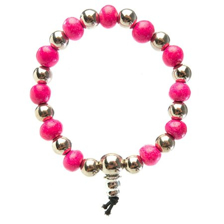 ceramic sweet scented bracelet with silver beads (bubble gum) i frogsac (Bubblegum Necklace Beads)