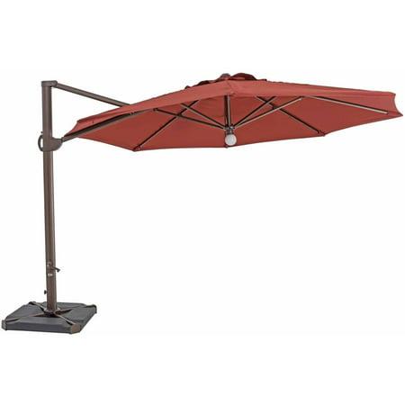 sorara usa 11 5 39 cantilever octagon umbrella with light henna. Black Bedroom Furniture Sets. Home Design Ideas