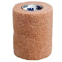 "Cohesive Bandage 3M Coban 3"" X 5 Yard Standard Compression Selfadherent Closure Tan NonSterile - 1 Each"