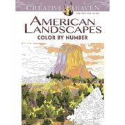 American Landscapes Color By Number Adult Coloring Book