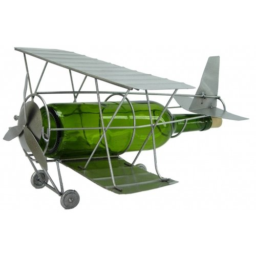 Wine Bodies Antique Plane 1 Bottle Tabletop Wine Rack