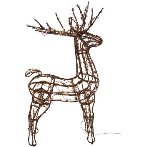 Dyno Seasonal Solutions Pre-Lit Rhombus Vine Standing Buck Christmas Decoration