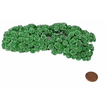 144 Silk Mini Wrap Roses Wedding Shower Flower Picks - Kelly Green4 (Kelly Mini)