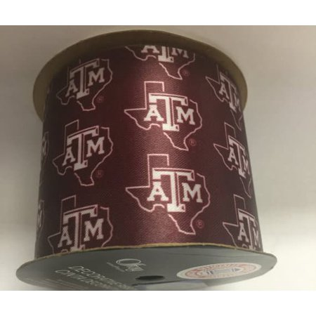 Texas A&M Aggies NCAA Ribbon 2-1/2-Inch Width, 9 Foot Spool