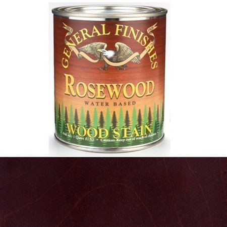 General Finishes Water Based Wood Rosewood Stain Quart