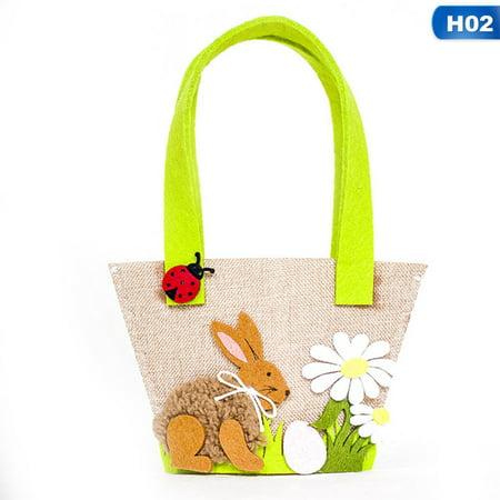 KABOER Spring Easter Rabbit Bunny Ear Shopping Tote Gift Bag Handbag Festive Pro