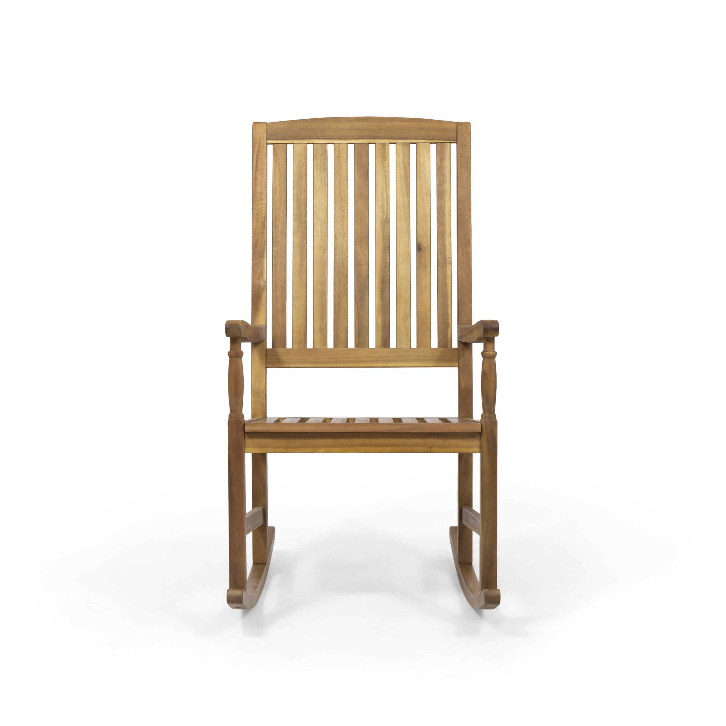 Myrna Outdoor Acacia Wood Rocking Chair Teak Walmart Com