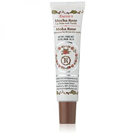Rosebud Charms 2 - rosebud lip balm tube, mocha rose, .5 ounce