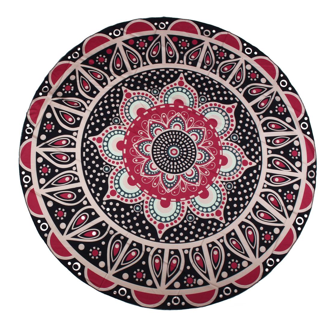 Home Beach Round Shape Wall Decor Throw Tapestries Towel Blanket Mat Tablecloth Travel Rug #4