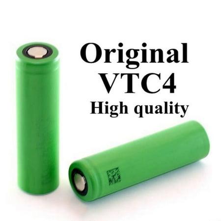 3000mAh 3.7V High Drain Flat Top 18650 Rechargeable Battery - 2PCS (100% Authentic) ()