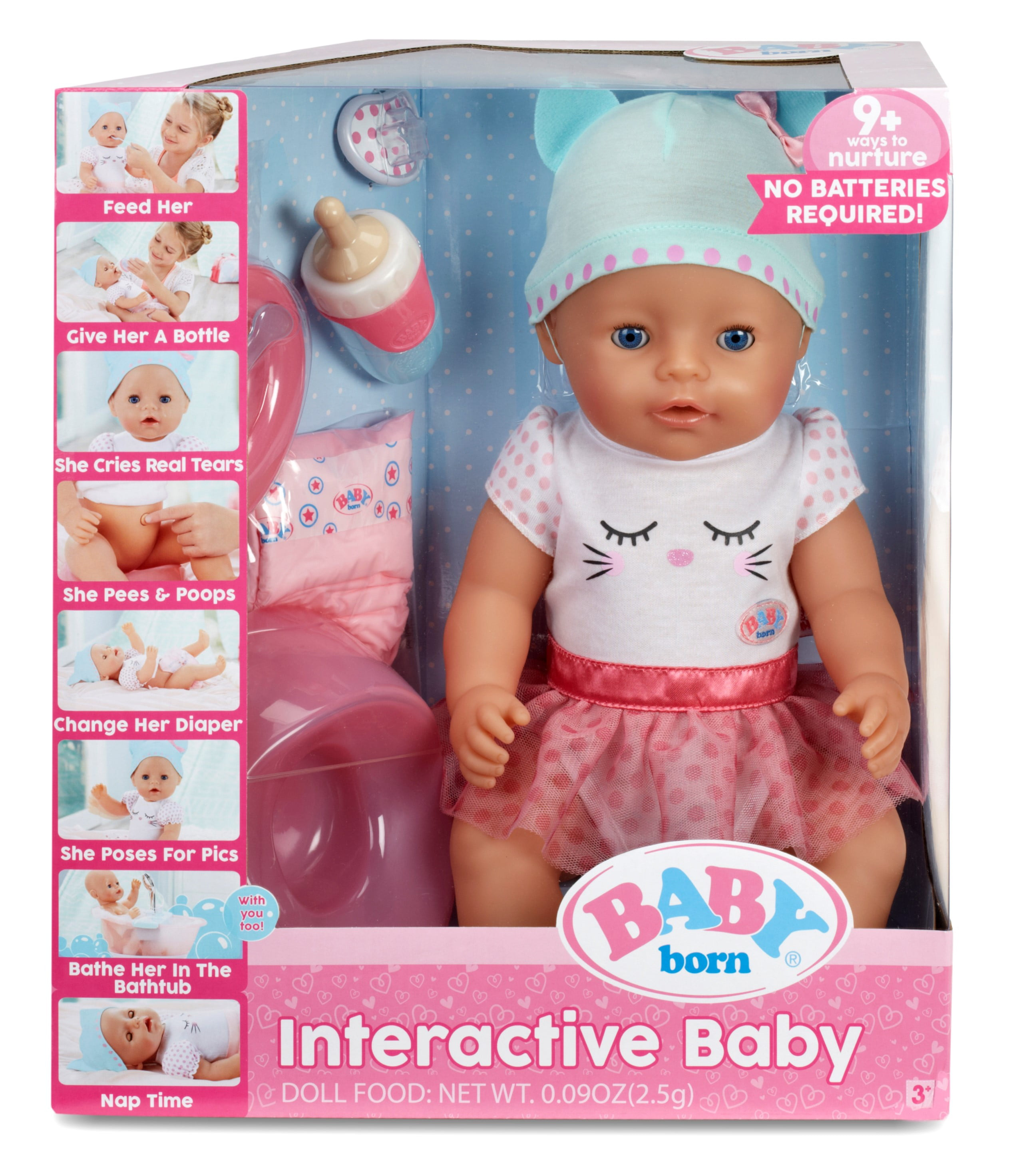 BABY born Interactive Doll Blue Eyes - Walmart.com
