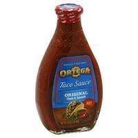 Ortega Taco Sauce, Hot Thick & Smooth, 16 Oz