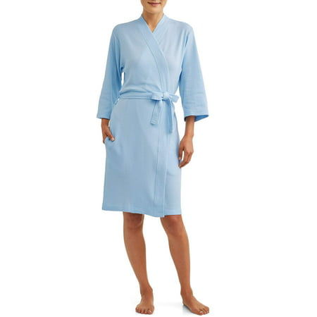 Cotton Knit Wrap Robe - Lissome Women's and Women's Plus Waffle Wrap Robe