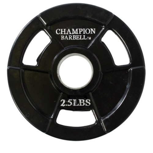 Champion Olympic Rubber Coated Grip Plate - 2.5 Lbs