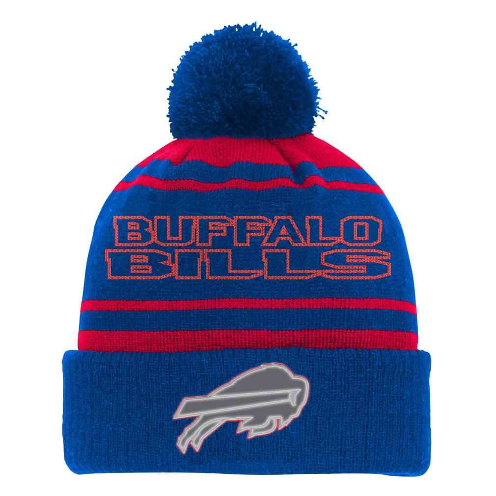 "Buffalo Bills Youth NFL ""Reflective"" Cuffed Knit Hat w  Pom by Outerstuff"