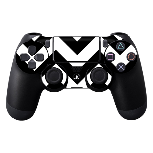 Skin Decal Wrap for Sony PlayStation DualShock 4 Controller Black Chevron