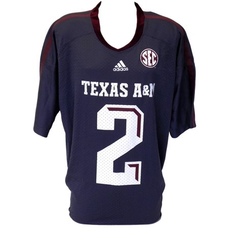 buy popular 9bd99 00390 Johnny Manziel Texas A&M Gray Adidas Replica Football Jersey 3XL