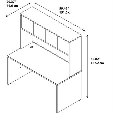 Series C Elite 60W x 30D Desk Shell with Hutch in Mocha Cherry - image 5 de 9