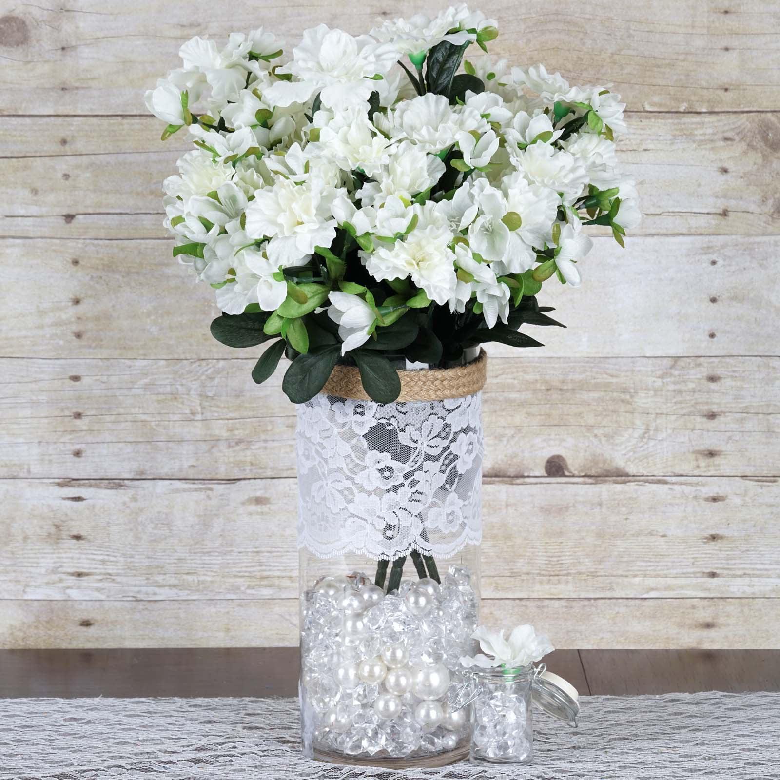 Efavormart 120 pcs Artificial GARDENIAS Flowers for DIY Wedding Bouquets  Centerpieces Arrangements Party Home Decoration , 4 bushes