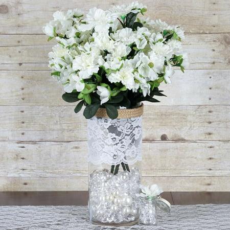 Efavormart 120 pcs Artificial GARDENIAS Flowers for DIY Wedding Bouquets Centerpieces Arrangements Party Home Decoration - 4 bushes (Floral Arrangement Centerpiece)