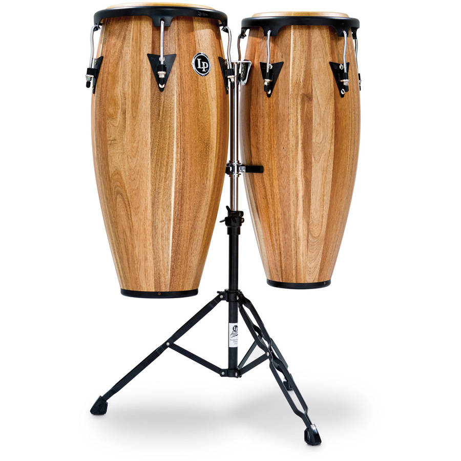 "LPA Latin Percussion Siam Walnut 10"" 11"" Congas by LP LATIN PERCUSSION"