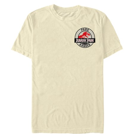 Jurassic Park Men's Ranger Cream Logo Badge T-Shirt