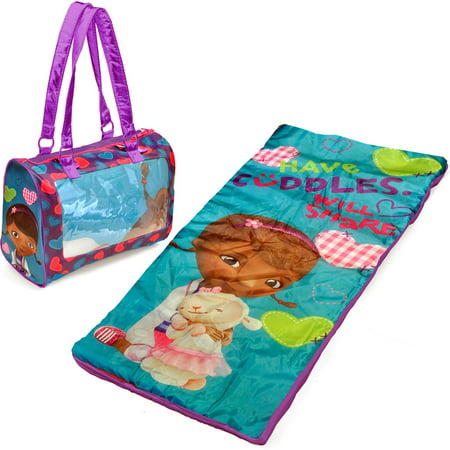 Disney Doc McStuffins Mini Sleepover Set/Nap Mat with BONUS Sling Bag
