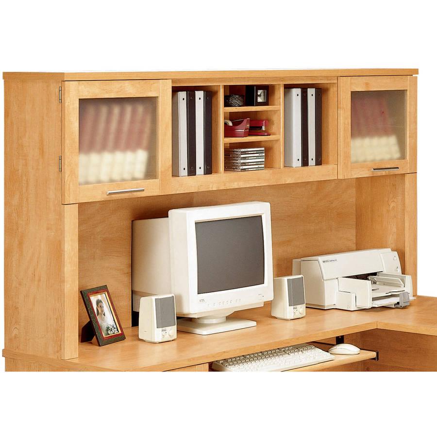 Bush Somerset 71 Quot L Shaped Desk With Hutch Maple Cross