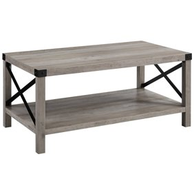 Noble House Emily Indoor Farmhouse Acacia Wood Coffee Table Light