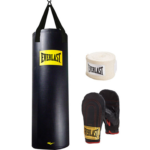 Everlast Dual Station Heavy Bag Stand With 100 Lb Kit And