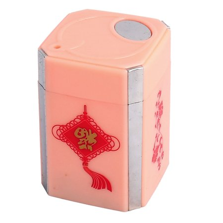 Uxcell Home Plastic Flower Pattern Rectangular Shape Automatic Toothpick Holder (Automatic Toothpick Holder)