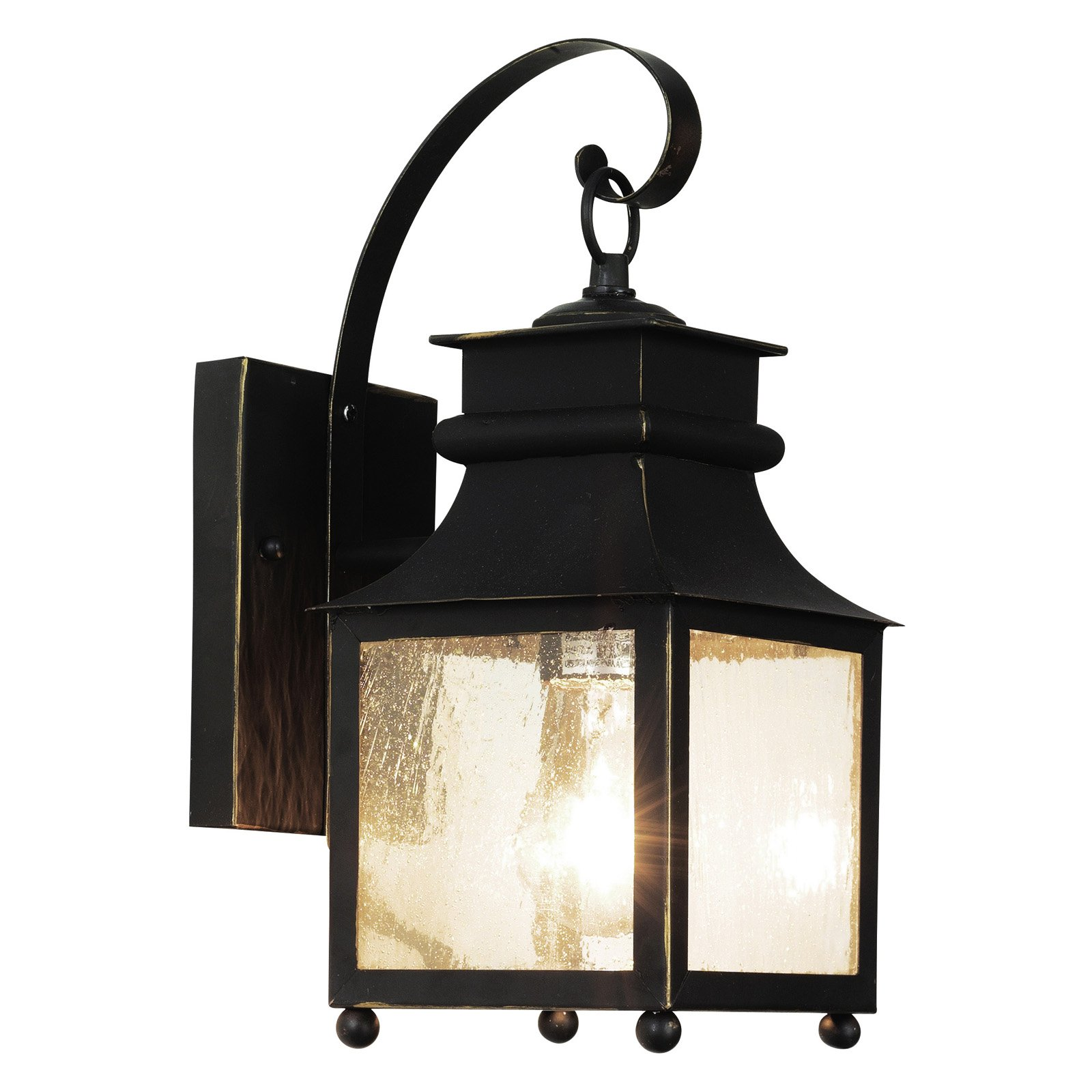 Trans Globe 45630 WB Coach Lantern - Weather Bronze - 6W in.
