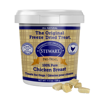 Stewart Pro-Treat Freeze Dried Chicken Breast 11.5 oz. Tub