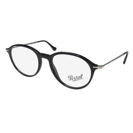 New Persol 3125-V Mens/Womens Designer Full-Rim Black / Gray Prestigious Brand Ophthalmic Frame Demo Lenses 51-19-140 Eyeglasses/Eyeglass Frame