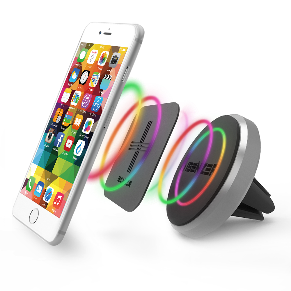 Reiko Universal Suction Winder Glass Car Phone Holder in Black with Vent Mount Holder Moto Nokia Samsung Huawei Compatible with iPhone Google Smartphones LG