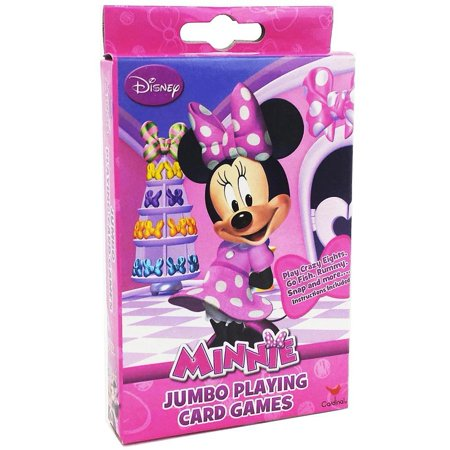 Disney Minnie Mouse Bowtique Jumbo Playing Cards - Oversized Kids Card Deck, Bright and colorful high-quality jumbo sized playing cards featuring Minnie Mouse and.., By Disney