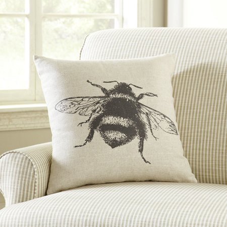 Ophelia & Co. Pierpoint Pen-and-Ink Bee Pillow Cover